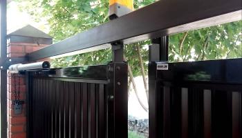 Автоматика для распашных ворот с открытием наружу