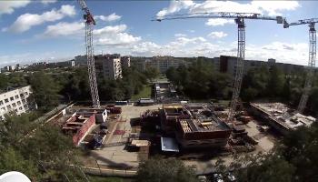 Видеонаблюдение на строительной площадке