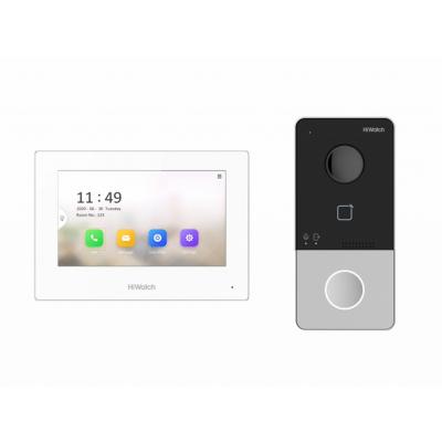 """HiWatch DS-D100IKWF Комплект IP-видеодомофона (вызывная панель + 7"""" монитор)"""