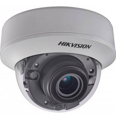 5Мп купольная HD-TVI камера Hikvision DS-2CE56H5T-AITZ с EXIR-подсветкой до 30м