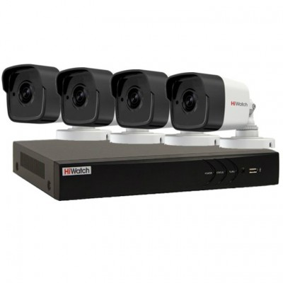 Профессиональный видеокомплект HiWatch-4-4