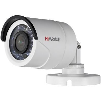 Компактная FullHD цилиндрическая TVI-камера HiWatch DS-T200 с ИК-подсветкой