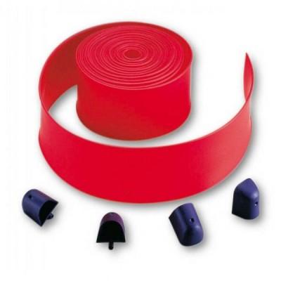 Пластиковые накладки (8 м) на стрелу, красного цвета